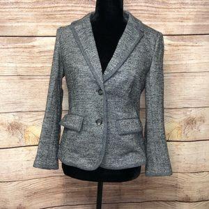 Loft Tweed Wool Button Blazer